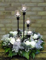 White Christmas Centerpieces - silver white wreath centerpiece holiday inspiration pinterest