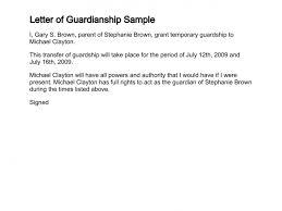 child visitation letter sample letter of guardianship free