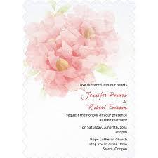 trendy blush pink flower wedding invitation cards with bracket