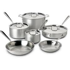 all clad master chef 2 stainless 10 piece cookware set