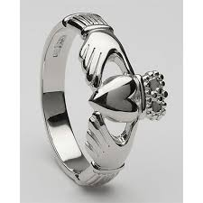 mens claddagh ring mens silver claddagh ring ms clad6h