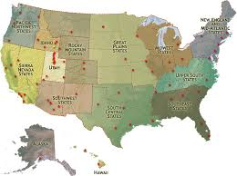 united states of america map with states and major cities lds mormon temples geographical region united states