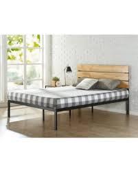 great deals on zinus sonoma metal u0026 wood platform bed full