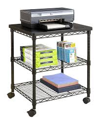 Under Desk Printer Stand Wood by Amazon Com Safco Products 5207bl Desk Side Wire Machine Stand