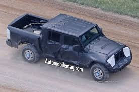 blue camo jeep jeep wrangler pickup caught testing in new photos automobile