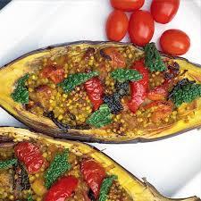 turmeric buckwheat stuffed aubergine further food