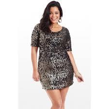 plus size long sleeve sequin dress kzdress