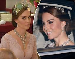 kate middleton wedding tiara kate middleton wears princess diana s signature tiara for