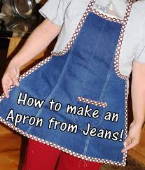 making an apron tutorial from the leg of an old pair of jeans