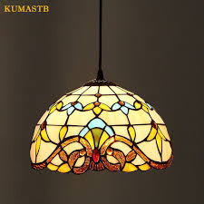 stained glass dining room light european style baroque stained glass lustre pendant lights bar cafe
