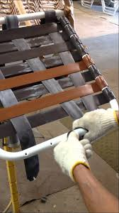 Chair Webbing Straps How To Install Criss Cross Straps On Patio Furniture Youtube