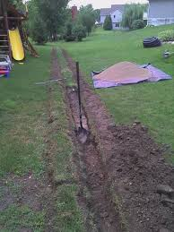 Water Ponding In Backyard Solve Yard Drainage Issues Drain Tile Install 5 Steps