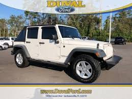 white four door jeep wrangler for sale used jeep for sale in jacksonville fl