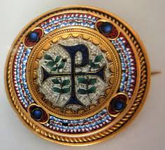 vatican jewelry gold micro mosaic brooch from the vatican with etruscan beading c