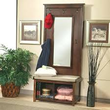 mirror and coat rack shoe bench entryway foyer racks u2013 daniioliver