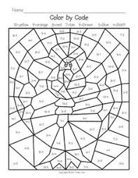 turkey math mystery pictures on worksheets holidays
