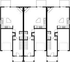 triplex house plans small townhouse plans triplex house plans