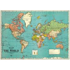 The World Political Map by Political Map Of The World Vintage Style Travel Poster Ephemera Ebay