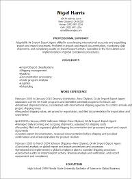 Trade Resume Examples by Professional Air Import Export Agent Resume Templates To Showcase