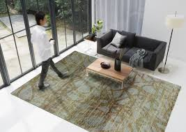 Modern Designer Rugs by Flagstone Turquoise Rug From The Shapes Irregular And Odd Rugs