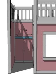 magnificent playhouse loft bed plans and ana white storage stairs