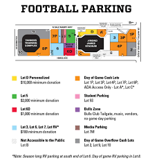 map usf football parking