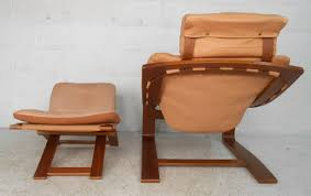 Mid Century Modern Nelo Mobler Leather Chair And Ottoman At 1stdibs