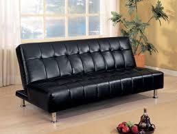 sofa black leather convertible sofas inviting black leather