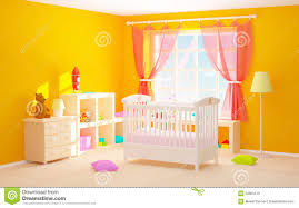 baby room with floor shelves stock illustration image 52901519