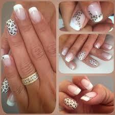 deco ongle en gel noir et blanc deco leopard nail art pinterest leopards