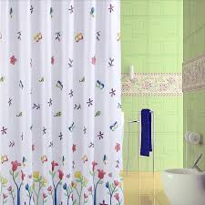 Shower Curtain For Sale Unique Shower Curtain Of Floral And Butterfly Patterns Buy White