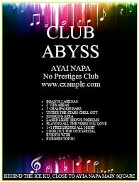 club flyer template with black theme u2013 publisher flyer templates