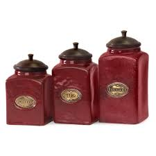 square kitchen canisters maroon and brown square ceramic modern kitchen canister set