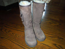 womens ugg australia brown plumdale charm boots ugg australia zip suede mid calf s boots ebay