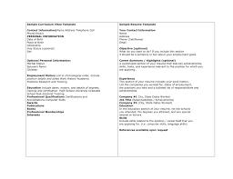 Curriculum Vitae Sample Format Pdf by Resume Curriculum Vitae Resume Sample