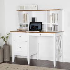 white wood desk with drawers furniture white painted wooden corner study desk with hutch for