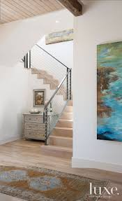 neutral modern staircase luxe halls stairs pinterest