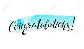 congratulation banner congratulation banner with abstract watercolor stain on background