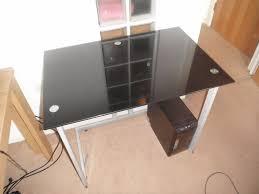 Glass Desk Office Furniture by Black Glass Desk Office Furniture Kid U0027s Bedroom Occasional Table