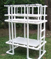 Pvc Patio Furniture Parts by Loft Bed Made From Pvc Water Pipe