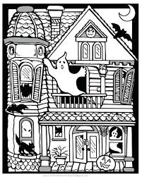 free printable spooky coloring pages scary halloween