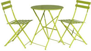 Tesco Bistro Chairs Buy Padstow Apple Green Folding Steel Garden Bistro Set From Our