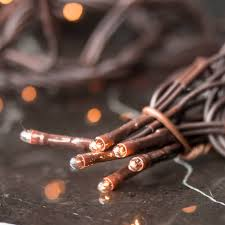 clear bulb and brown cord multifunctional teeny string lights