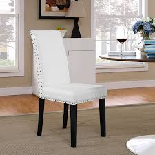 amazon com modway parcel dining vinyl side chair white chairs