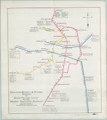 Boston T Line Map by Massachusetts Historical Society The Beehive