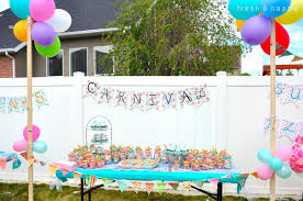 fresh and happy post summer carnival party