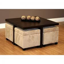 Soft Ottoman Cube Square Coffee Table With Storage Cubes W Thippo