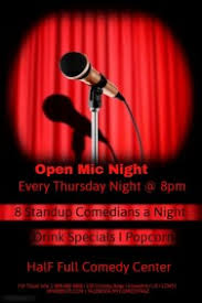 customizable design templates for comedy open mic night template