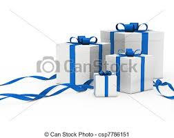 white and blue ribbon clipart of gift box white blue ribbon 3d gift box white with