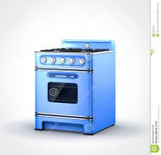 blue old vintage retro stove stock illustration image 32527867